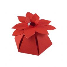 Red Flower Top Designer Favour Boxes
